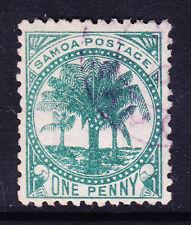 Samoa 1890 SG35 1d Verde-P12 X 11 1/2 - wmk 4c 4mm-Fine Used. catálogo £ 50.