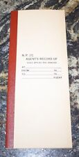RARE Northern Pacific Railway, Agents Record of Seals Booklet..( NOS) 1450  9-24