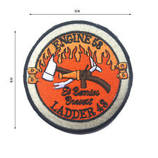 LADDER 43 ENGINE 53 FIRE MORALE BADGE ARMY TACTICAL EMBRODIERY HOOK PATCH SH+908