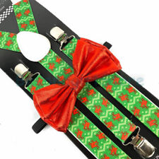 Suspender and Bow Tie Adults Christmas Novelty Reindeers Formal Wear Accessories
