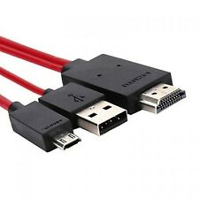 Micro USB (MHL 5 Pin) to HDMI (Type A) - Cable for Connecting HUAWEI MEDIAPAD...