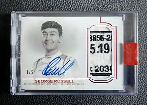 2020 Topps Dynasty Formula 1 George Russell LOGO PATCH AUTO RED 1/5 WILLIAMS