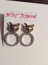 "$35 Betsey  Johnson  ""Fox Trot"" Pave Rings Drop Earrings #121A"