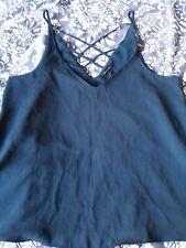 Ladies Size 14 River Island Black Camisole Top