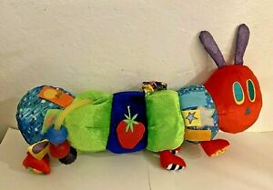 Eric Carle The Very Hungry Caterpillar Crinkle Tags Baby Crib Toy Stroller EUC