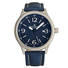 Revue Thommen Men's Pilot Blue Dial Leather Strap Automatic Watch 17060.2525