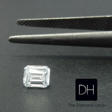 0.51 Ct. Loose Emerald Cut Natural Diamond I Color VS1 Clarity with Certificate