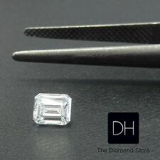 0.59 Ct. Loose Emerald Cut Natural Real Diamond J VS1 Ring 12 Carat Pendant
