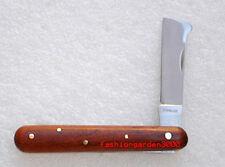PROFESSIONAL-GRADE QUALITY NURSERY GRAFTING BUDDING ROSEWOOD KNIFE w/BARK LIFTER