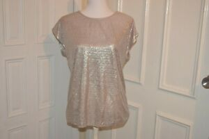 suzanne grae Size S Shimmery metallic silver colour blouse top