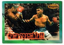Boxer Dana Rosenblatt Ringside SIGNED CARD AUTOGRAPHED