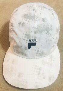 Fila Brand Baseball Cap White Hat Sport One Size White Sport