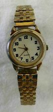 Quartz Gold Silver Two Tone Stainless Steel Dress Casual Womens Wrist Watch Used
