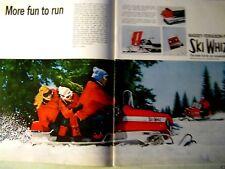 "1968 Massey Ferguson Ski Whiz Snowmobile Original Print Ad-2 page-8.5 x10.5"""