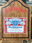 VINTAGE Budweiser Beer Wooden Case Darts USA Made Old School man cave Board Set
