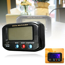 LCD Digital Time & Date Alarm Clock Stop Watch Snooze With Night Light Car Home