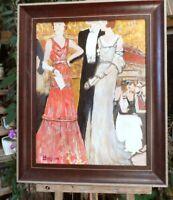 tableau huile /toile  -  - signé  BERGEN