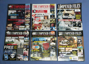 """Lot of 6 """"The Unopened Files"""" Magazines - 1996-98 - UFOs, Conspiracies, Etc."""