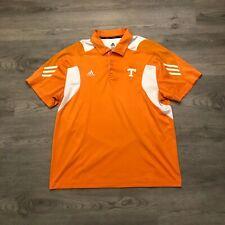 Adidas University of Tennessee Mens Orange/White Polo Shirt S/S Polyester Xl