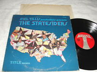"The Statesiders ""Mel Tillis Presents..."" 1975 Country LP, Nice VG++!, on Title"