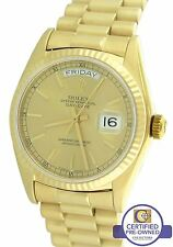 Rolex Day-Date President 36mm 18038 18K Yellow Gold Champagne Watch Presidential