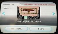 Nintendo Wii Console - NES The Legend of Zelda + Official Remote - Gamecube Comp