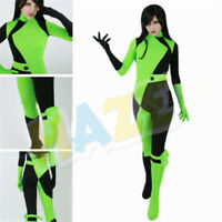 Kim Possible Shego Cosplay Costume Jumpsuit Halloween Women Costume Party Dress