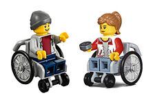 LEGO® Minifig City - Rollstuhlfahrerin + Rollstuhlfahrer aus dem Set 60154/60134