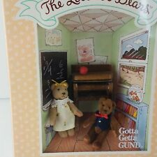 Vintage RARE Gund The Littlest Bears Miniatures 1994 NEW SISTER BROTHER School