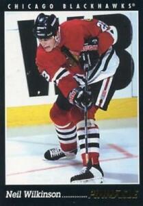 #354 Neil Wilkinson - Chicago Blackhawks - 1993-94 Pinnacle Hockey