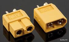 (1) Pair XT60 Bullet Connectors Plugs Male / Female - Genuine Version