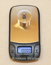 100 x 0.01 G GRAM DIGITAL POCKET SCALE GRAIN CARAT RELOAD GUN BLACK POWDER GOLD
