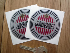 """JAMES Classic Motorcycle Stickers 3"""" Pair Captain Cadet Commodore Colonel Comet"""
