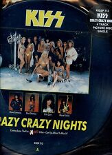KISS crazy crazy nights 12INCH PICTURE DISC HOLLAND 1987 EX