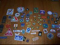 Vintage Lot of Boy Scout Merit Badges Canada, World Jamboree, Contingent Patches