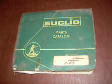 EUCLID SCRAPER TRACTOR PARTS CATALOG 38 50 MANUAL