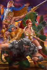Masters of the Universe He-Man, Teela, Sorceress Limited Edition Poster