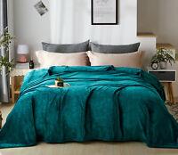 Super Soft Flannel Fleece Blanket Lightweight Bed Warm Blanket Queen/King Size