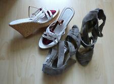CHORUZ Pantoletten, Sabot DAZU Sandalette H&M  Gr.41 Weiß u. Beige w.NEU