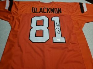 Justin Blackmon Autographed Jersey Oklahoma State Great Certified by Absolute