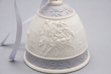 """Annual Christmas Bell Lladro 1993 Orig Ribbon 3 """" Excellent Shape"""