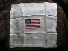 ANTIQUE SILK STAR PATTERN COLORADO STATEHOOD 38 STAR AMERICAN FLAG HANDKERCHIEF