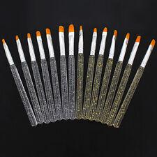 7pcs Nail Art Uv Gel Pen 3D Painting Polish Brush Dotting Drawing Tools Set Usa