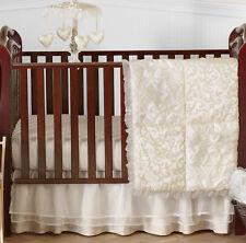 Sweet Jojo Designs Boutique Designer Bumperless Baby Girls 4pc Bedding Crib Set