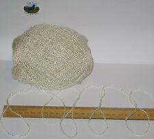 100g Cream wavy Viscose & acrylic knitting wool yarn 4 ply Pls Read Carefully