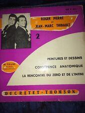 Trois 45 Tours Humour Fernand Raynaud, Roger Pierre, Henri Genés, JM Thibault.