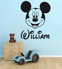 PERSONALISED Mickey Mouse Boys Name Disney Vinyl Wall Art Sticker Decal FREE P&P