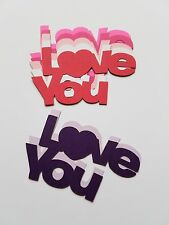Love You Scrap Booking Words Die Cut Out Embellishments,