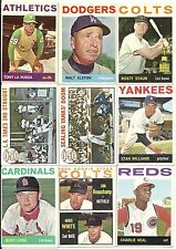 1964 Topps Card Lot 138 Different HOF Minor Stars Hi #s Nice EX/EX+        DVDBX