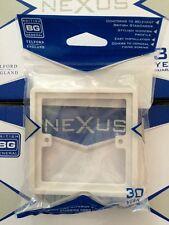 2 x British General 1 Gang 1G 10mm Single Socket Patress Back Box Wall spacer